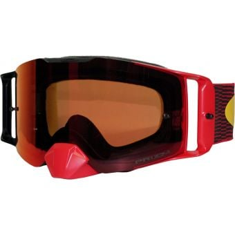 OAKLEY Frontline MX Goggles Equalizer Red Yellow/Prizm Mx Torch Lens