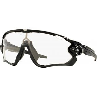 OAKLEY Jawbreaker Sunglasses Polished Black/Clear Black Iridium Photochromic Activated Lens