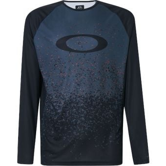 Oakley MTB Long Sleeve Tech Tee Grey Pixel Print 2020
