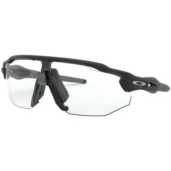 OAKLEY Radar EV Advancer Sunglasses Matte Black Frame Clear Black Iridium Photochromic Lens