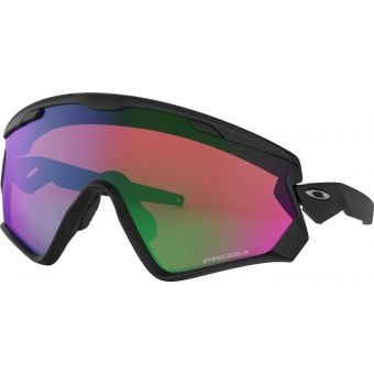 OAKLEY Wind Jacket 2.0 Sunglasses Matte Black/Prizm Snow Jade Iridium Lens