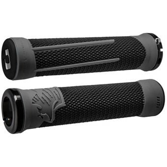 ODI Aaron Gwin AG-2 Signature 135mm Lock-On MTB Grips Black/Graphite