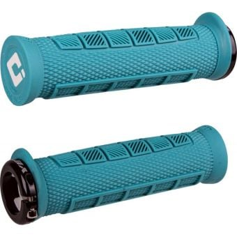 ODI Elite Pro Lock On MTB Grips Turquise Yeti Edition