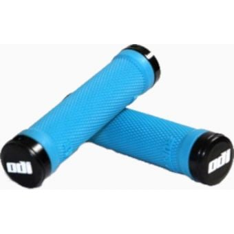 ODI Ruffian Lock On MTB Grips Aqua/Black