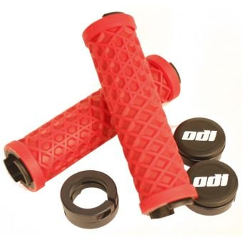 ODI Vans Lock-On Grips Bright Red