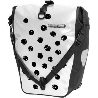 Ortlieb 20L Back Roller Design Pannier Dots (Single) White/Black
