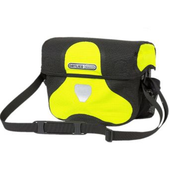 Ortlieb 7L Ultimate Six High Visibility Handlebar Bag (Without Mount) Reflective Neon Yellow/Black