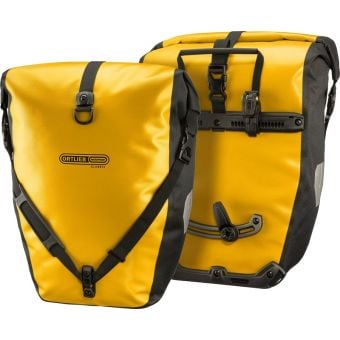 Ortlieb Back Roller 20L Waterproof Classic Pannier Bag Sun Yellow/Black (Pair)