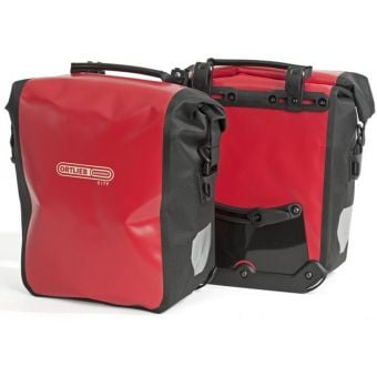 Ortlieb Front Roller City Pannier Bags Red