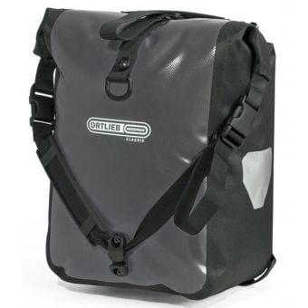 Ortlieb Front Roller Classic QL2.1 Waterproof Pannier Bag (Pair) Asphalt Grey/Black