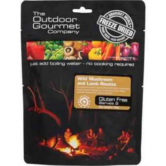 Outdoor Gourmet Freeze Dried Meals Wild Mushroom and Lamb Risotto Serves 2