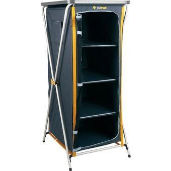 OZtrail 4 Shelf Deluxe Folding Camp Cupboard