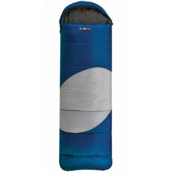 OZtrail Lawson Hooded -5C Sleeping Bag Blue/Grey