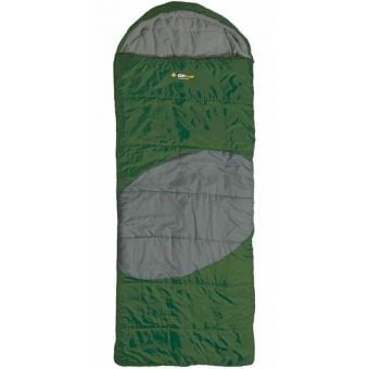 OZtrail Lawson Jumbo Hooded -5C Sleeping Bag Green/Grey