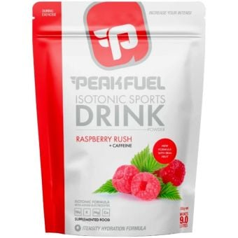 PeakFuel Isotonic Sports Drink Powder 510g Raspberry Rush + Caffeine