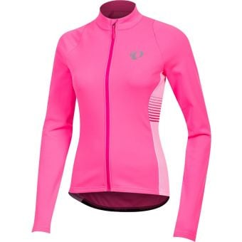Pearl Izumi Select Pursuit Womens LS Thermal Jersey Screaming Pink Diffuse Small