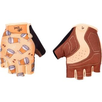 Pedal Palms Cuppa Fingerless Gloves Beige/Brown/Black