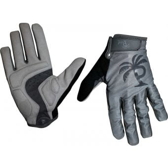 Pedal Palms Greyscale Full Finger Gloves Grey/Black