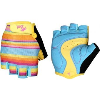 Pedal Palms Lawn Chair Fingerless Gloves Blue/Yellow/Orange