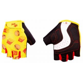 Pedal Palms McPalms Fingerless Gloves Yellow/Red/Black