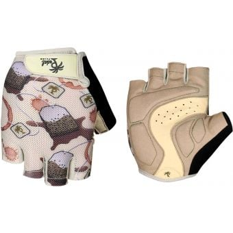 Pedal Palms Tea Bag Fingerless Gloves Tan/Brown