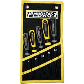 Pedros 5 Piece Screwdriver Set w/Pouch