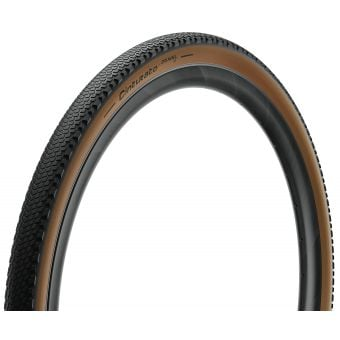Pirelli Cinturato Gravel Hard 700x45c TLR Folding Tyre Tanwall Classic