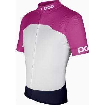 POC Raceday Womens Climber Jersey Fluorescent Pink/Hydrogen White