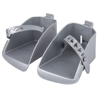Polisport Footrests for Boodie Child Seat Silver