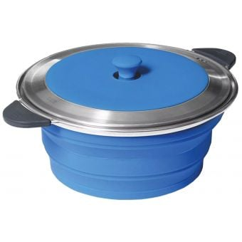 PopUp 5L Collapsible Stockpot w/Lid Blue