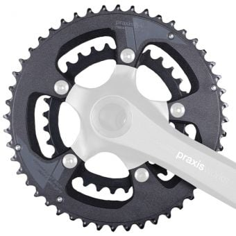 Praxis Works Buzz 110BCD 48/32T Double Road Chainring Set 2Tone Black