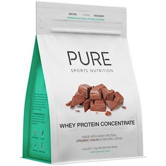 PURE Whey Protein Concentrate Chocolate 500g Pouch