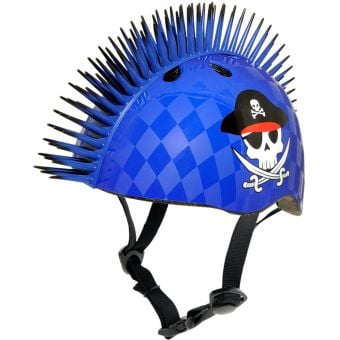 Raskullz Pirate Mohawk Blue Helmet Youth Small