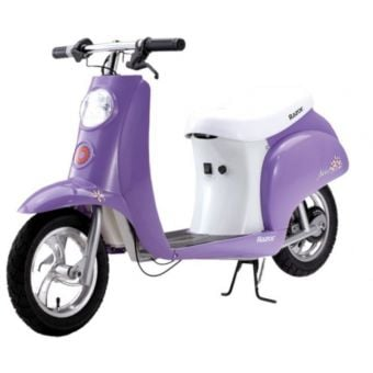 Razor Pocket Mod Betty Ride-On Vintage Electric Scooter Purple