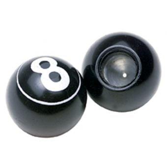 Rex 8-Ball Design Valve Caps Black/White