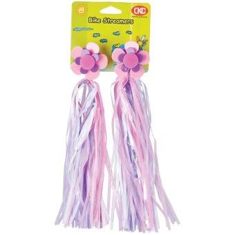 Rex Handlebar Streamers w/ Windmill Neon Pink/Purple/White