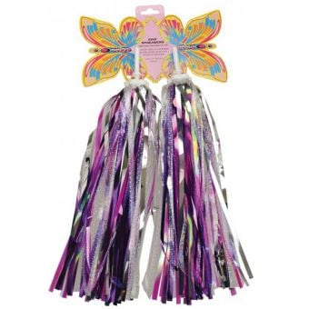 Rex Handlebar Streamers Pink/Purple/Flash Silver