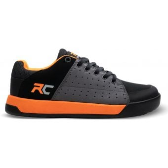 Ride Concepts Livewire Youth Flat Pedal MTB Shoes Charcoal/Orange