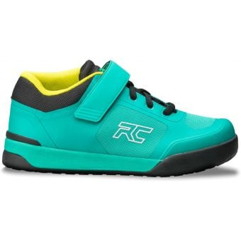 Ride Concepts Traverse Womens Flat Pedal MTB Shoes Clipless Teal/Lime