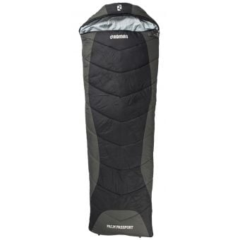 Roman Palm Passport Sleeping Bag Black/Charcoal