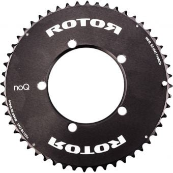 Rotor noQ Aero BCD110x5 53T Outer Chainring Black
