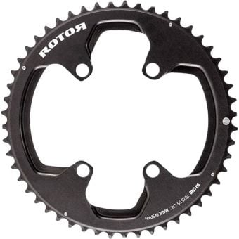 Rotor noQ Rings 53T 110BCD 4 Bolt Spider Mount Chainring Black