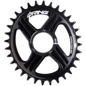 Rotor Q Rings 34T R-Hawk/Raptor Direct OCP Mount Oval Chainring Black