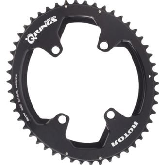 Rotor Q Rings 53T 110BCD 4 Bolt Spider Mount Oval Chainring Black