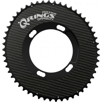 Rotor Q-Rings Aero BCD110x4 Outer Oval Chainring (Shimano) Black