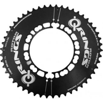 Rotor Q-Rings Aero BCD110x5 52T Outer Chainring Black