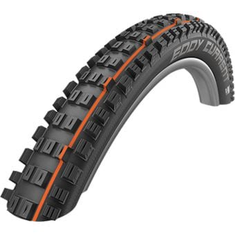 "Schwalbe Eddy Current Rear 29x2.6"" Super Gravity TLE E-50 MTB Folding Tyre Black"