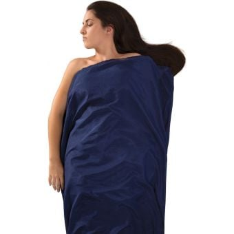 Sea To Summit Long Silk + Cotton Sleeping Bag Liner Navy