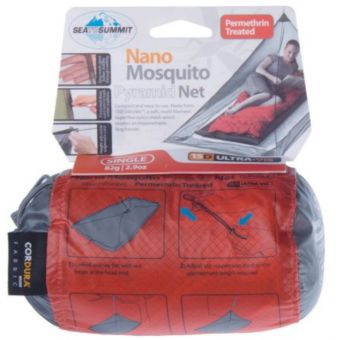 Sea To Summit Nano Mosquito Net Single with Permethrin Treatment