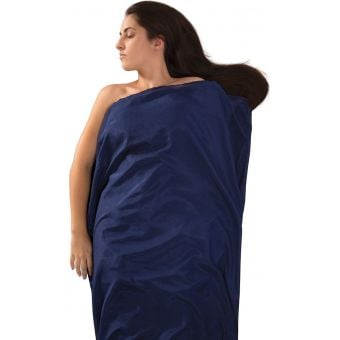 Sea To Summit Silk + Cotton Sleeping Bag Liner Navy